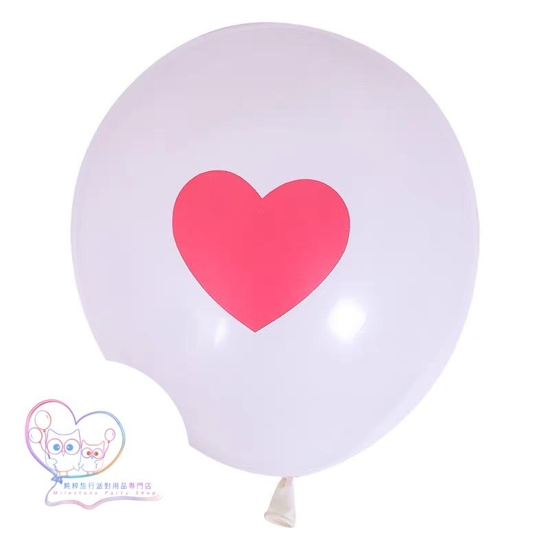12吋乳膠氣球 (白底紅心) LBL3-2